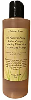 Natural First Organic Apple Cider Vinegar Finishing and Conditioning Rinse w/Coconut and Mango