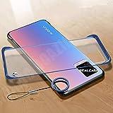 REALCASE Mobile Cover, Frameless TPU Bumper Case Back Cover for Vivo V20 (F-Blue)