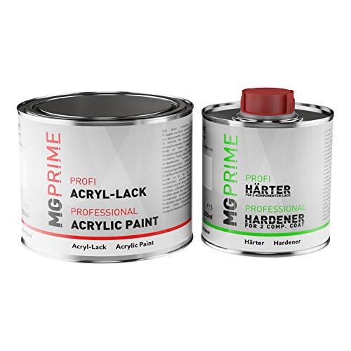 MG PRIME RAL 7034 Gelbgrau Acryl-Lack matt 0,75 Liter / 750 ml Dose inkl. Härter