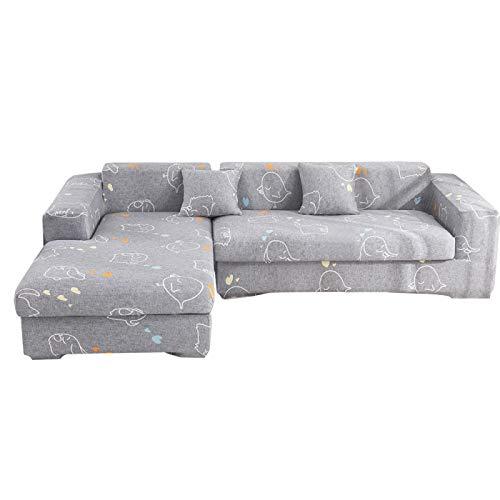 NOBCE Funda de sofá elástica elástica 1/2/3/4 plazas Fundas de sofá para sofás universales Funda seccional en Forma de L para sofás universales 145-185CM