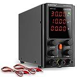 Alimentatore da Banco, eventek Alimentatore da Regolabile a Commutazione Regolabile con Display LED a 4 Cifre, Cavo a Coccodrillo/Linea di Prova (30V 10A)