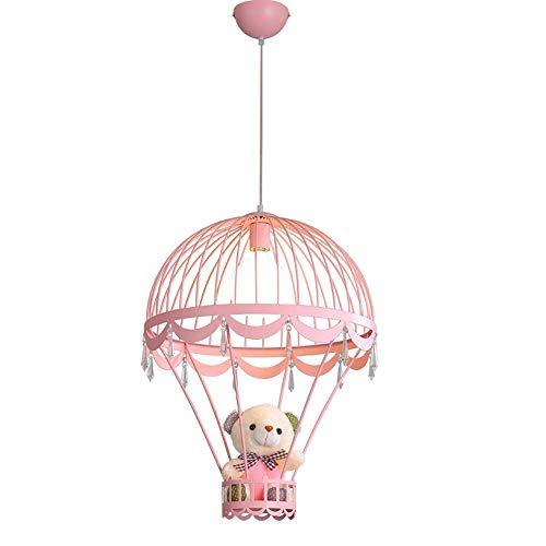 Apliques Pared Lámparas niños, niño y niña de la habitación, lámpara de techo de dormitorio, decorativo iluminación pendiente, lámpara de cristal colgantes, Decoración Oso luz de techo, Rosa (bombilla
