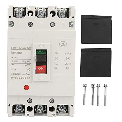 Integrated Circuit Breaker,Circuit Breaker 3P Circuit Breaker, Integrated Air Switch Circuit Breaker with All Copper Contacts 800V (80A)