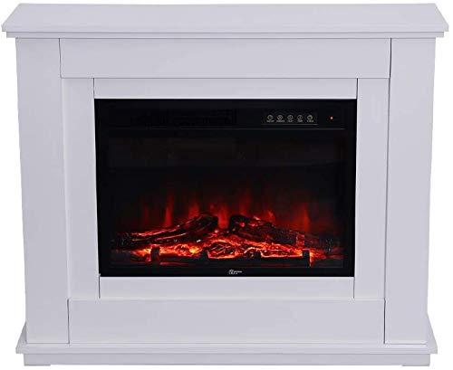 Einbau-Elektroherd, mit Fernbedienung Flammeneffekt, Temperatureinstellung,White