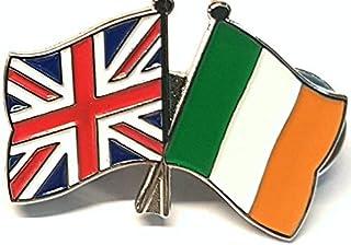 Mainly Metal TM Spilla smaltata dell'amicizia Irlanda Eire UK GB (Regno Unito) 30 mm