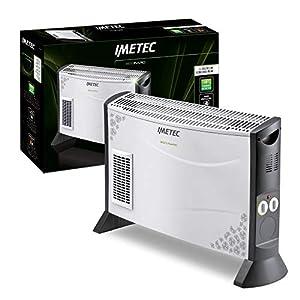 Imetec Eco Rapid TH1-100 Stufa Elettrica 2000 W con Tecnologia a Basso Consumo Energetico, Termoconvettore 4 Temperature, Termostato Ambiente, Silenzioso