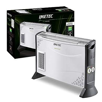 Foto di Imetec Eco Rapid TH1-100 Stufa Elettrica 2000 W con Tecnologia a Basso Consumo Energetico, Termoconvettore 4 Temperature, Termostato Ambiente, Silenzioso