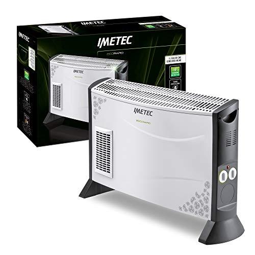 Imetec Eco Rapid TH1-100 2000 W Elektroherd mit geringem Energieverbrauch, 4-Temperatur-Konvektor, Raumthermostat, geräuschlos
