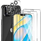 ivencase [3 Pezzi Vetro Temperato per iPhone 12 Mini Pellicola Protettiva + [3 Pezzi] Proteggi Lenti per Fotocamera, Senza Bolle AntiGraffio Protezione Schermo Adatto per iPhone 12 Mini (5.4'')