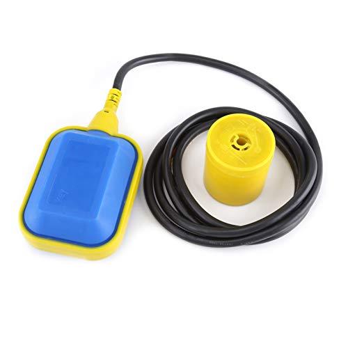 Walfront Kabeltyp Schwimmerschalter 6,23ft (12,14ft) Kabel Flüssigkeits-Wasserstandsregler Sensor, Klärgrube, Schmutzwasserpumpe, Wassertank(Kabellänge: 3.7M)