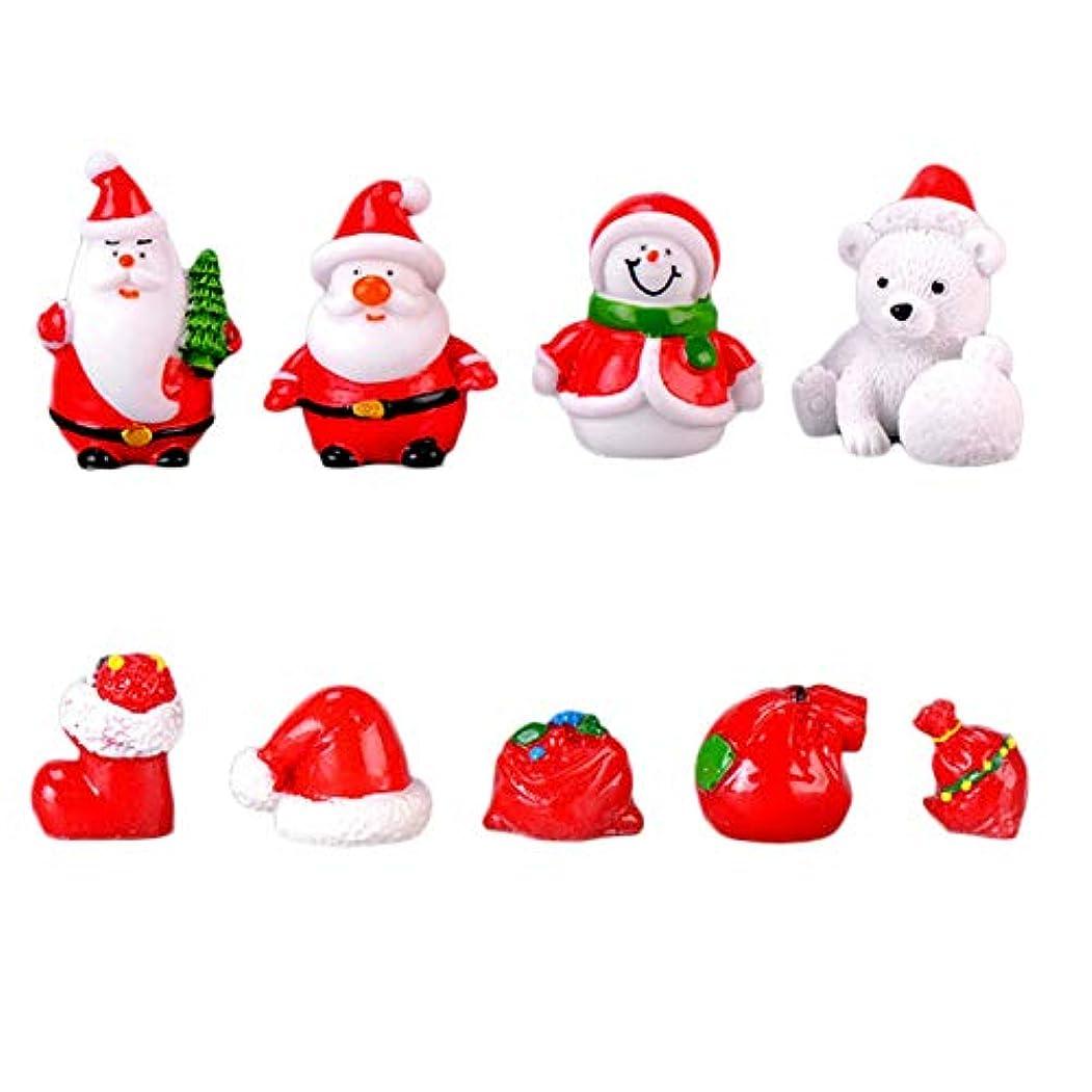 演劇アジテーションまでDC 1セット 可愛い クリスマスマイクロランドスケープデコレーション DIY 樹脂 風景置物 庭盆栽装飾 クリスマス装飾 サンタ クマ 雪だるま 装飾工芸 クリスマスプレゼント