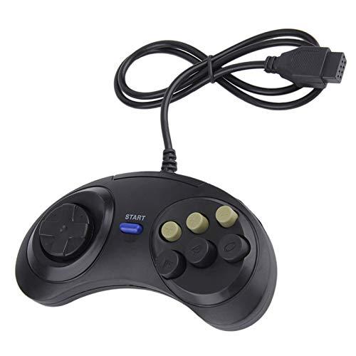 Bosi General Merchandise UniversalFernbedienung mit 6 Tasten und klassisches Spielekabel, SEGA MD2 PC MAC Mega DriveGamecontroller