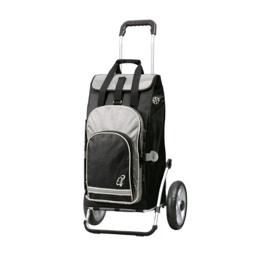 Andersen Shopper Royal mit kugelgelagertem Rad 25 cm und 60 Liter Einkaufstasche Hydro schwarz mit Kühlfach