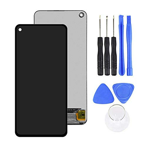 LINASHI Touch Screen Digitizer, AMOLED LCD Display Touch Screen Digitizer Replacement Kit Compatible with Samsung Galaxy A60 Black