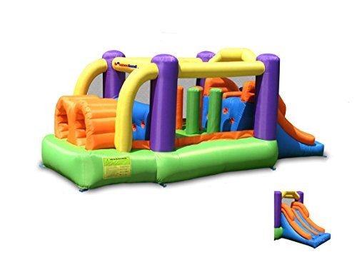 Bounceland Pro Racer Obstacle Bounce House with Dual Slides, Bounce, Climb, Slide All in One, UL 1 HP Blower Included, 19 ft x 9 ft x 7 ft H, Great for Big Party, Fun Racing Game in Teams