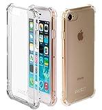 JProtect Hülle kompatibel mit iPhone 7/8 / SE 2 Shockproof Bumper | Transparentes Stoßsicheres TPU | Ideale Passform | case Cover Schutzhülle | Unterstützt Kabelloses Laden |