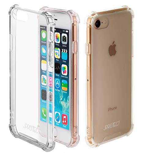 JProtect Hülle für iPhone SE 2020, iPhone 7, 8 Shockproof Bumper | Transparentes Flexibles Stoßsicheres TPU | case Cover Schutzhülle | Perfekte Passform |