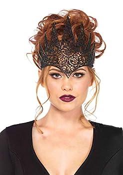 Leg Avenue Women s Fairy Tale Queen Crown Black One Sizes Fit Most