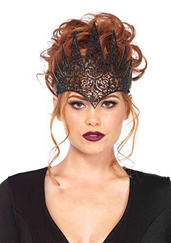 Leg Avenue Women's Fairy Tale Queen Crown, Black, One Sizes Fit Most