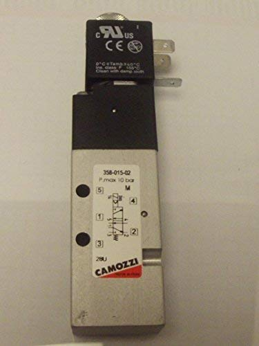 Camozzi 358-015-02, 1/8 Bsp , 5/2 Magnetventil, 24V Dc Spulen