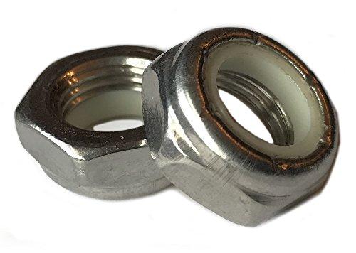 Stainless Steel Thin Jam Nylon Insert Lock Nuts 3/8-16 (pack of 25) Marine Bolt Supply