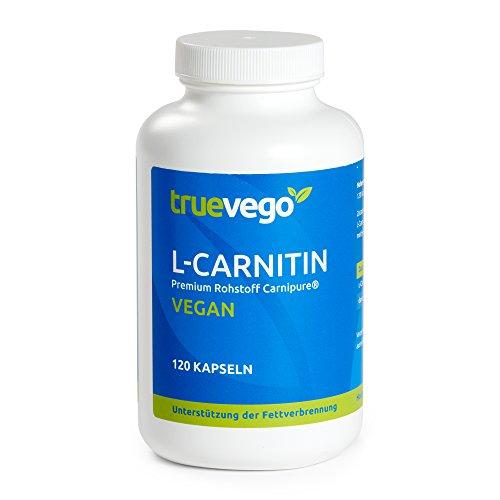 L-Carnitin Carnipure®, Extra Hochdosiert - 750mg pro Kapsel, unterstützt die Fettverbrennung + Definitionsphase, 120 Kapseln, Vegan, Hergestellt in Deutschland