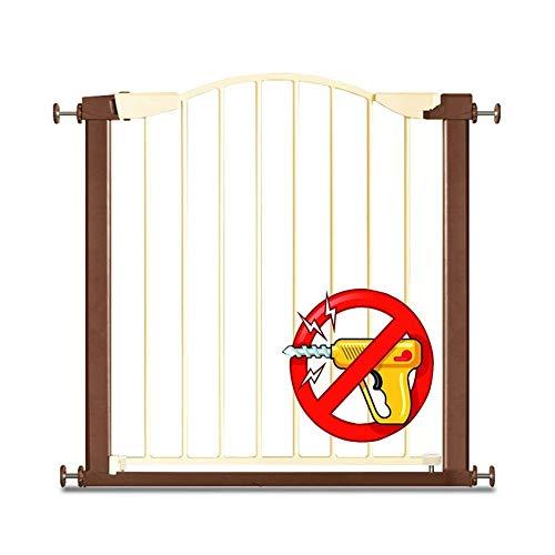 FCXBQ Pet Gates Extra Large Pressure Pressure Gate Auto Close Safety Strong Baby Gate pour Les escaliers, Les Portes (Taille: 151-159cm)