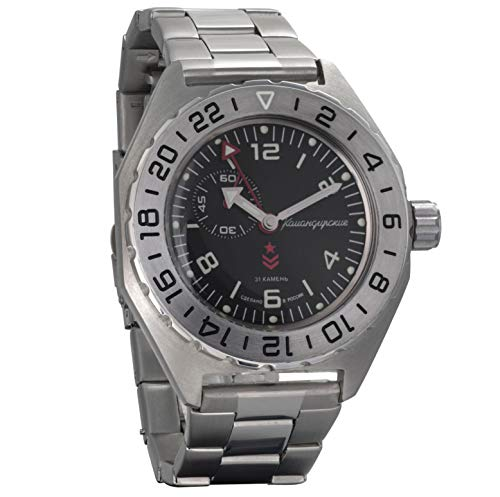 Vostok Komandirskie Mens Automatic Russian Military Wristwatch WR 200m (650539)