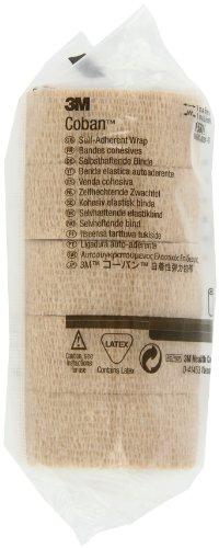 3M Coban Self-Adherent Wrap 1581, 1 Inch x 5 Yards - 6/Packs of 5 Rolls