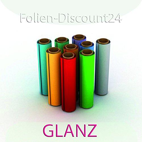 (EUR 6,33 / vierkante meter) F-D24 | gekleurde zelfklevende folie | glanzend zilver | 60cm x 200cm TOP! | Plakfolie decoratiefolie plotterfolie knutselfolie | XXL-formaat meubelfolie