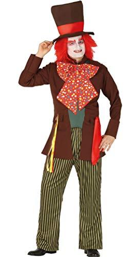 Fiestas Guirca- Costume Cappellaio Matto Uomo Taglia L 52-54, Multicolore, L, 88577