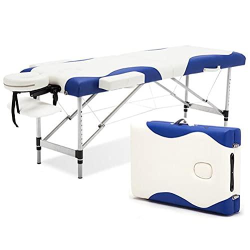 Inconnu Table de Massage Pliante Professionnelle, Table Massage 2 Sections Portable Ergonomique, Lit...