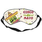 Eye Masks, Adjustable Strap Sleep Cover Mask Breathable Blindfold Cinco-De-Mayo_23-2148106472