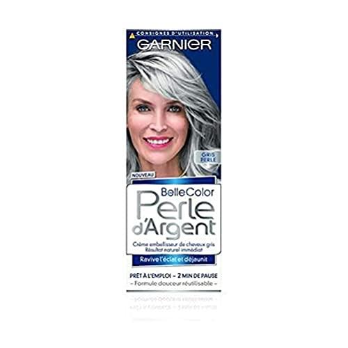 Garnier - Belle Color - Perle d'Argent - Crème déjaunisseur éclat cheveux gris - Gris Perle