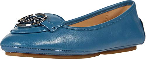 Michael Kors Lillie Mocassins plats Bleu (Dark Chambray), 38 EU