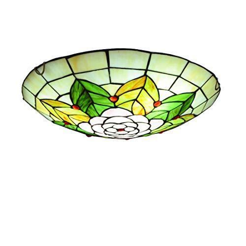 TANKKWEQ Tiffany Colgando Lámpara de estilo europeo, decoración del pasillo Lámparas de techo para el dormitorio, (Color : 17)