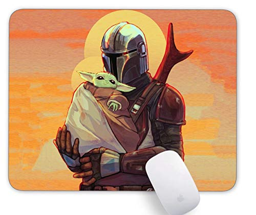Mouse Pad Mandalorian Baby Yoda Gaming Funny Customized Cute Rubber Mousepad Laptop MouseMat for Desk