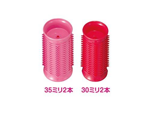 コイズミヘアカーラー4本入り海外対応ピンクKHC-V400/P