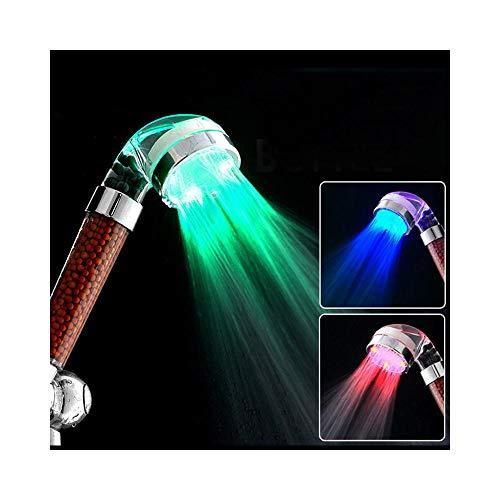 RangYR Douche anion LED douchekop spa drukwater - zuinige temperatuur regendouche kleurrijk grote tas