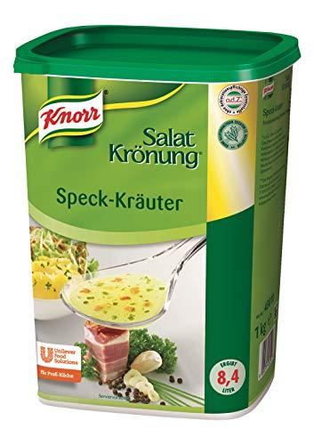 Knorr Salatkrönung Speck Kräuter Dressing (Trockenmischung für Salatdressing mit ausgesuchten Kräutern, Gewürzen und Speck) 1er Pack (1 x 1 kg)