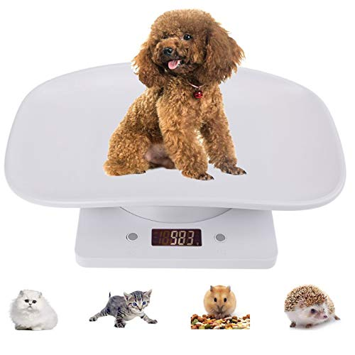 Pet Scale, Digital Body Weight Bathroom Scale, Multi-Function Baby Scale, Measure Weight Accurately(Max: 22lbs), Perfect for Toddler/Puppy/Cat/Dog/Adult