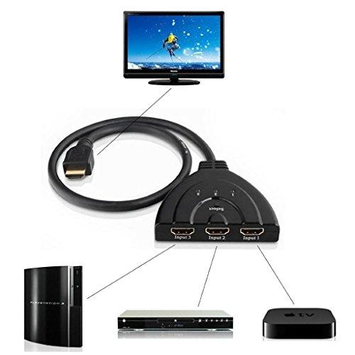 fenrad 3 Port 1080P HDMI AUTO Switch Interruttore Divisore Switcher Selettore HUB Box Cavo per DVD HDTV STB