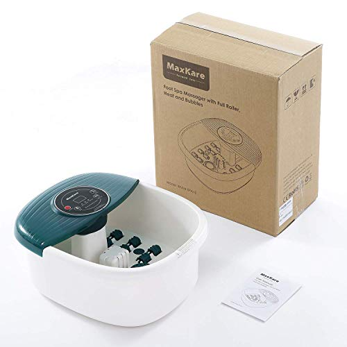 Foot Spa/Bath Massager with Heat Bubbles Vibration 3 in 1 Function
