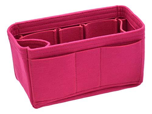 Handtaschen-Organizer-Einsatz – Filz-Aufbewahrung, formende Tasche für Handtaschen-Handtasche, (fuchsia), Large
