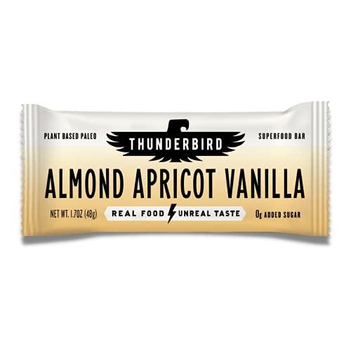 Thunderbird Energetica, Bar Almond Apricot Vanilla, 1.7 Ounce, 12 Pack…