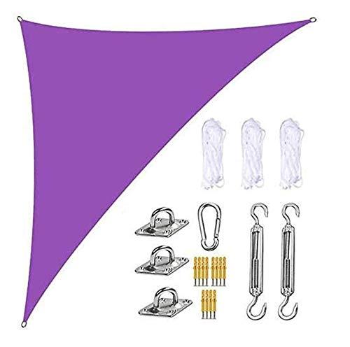'N/A' Sonnensegel, Sonnenschutz und winddichter Segelschatten, UV-Schutz rechtwinklige Gartenterrasse Balkonschattensegel, mit Befestigungssatz und 3...