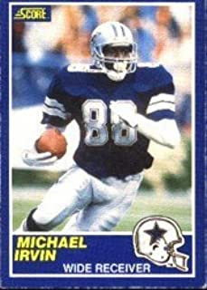 1989 Score Michael Irvin Rookie Football Card #18 - Shipped In Protective Display Case!