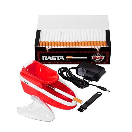 Máquina de liar tabaco eléctrica JeVx – Con 200 tubos OCB