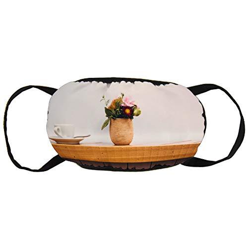Stofvervuilingsmasker, mooie bloempot, zwart oor puur katoen masker, geschikt voor mannen en vrouwen maskers