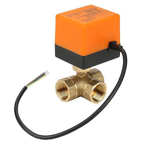ViewSys DN20 G3 / 4 Brass 3 Way Bola Válvula motorizada eléctrica for el acondicionador de Aire de DC24V Control de Flujo,
